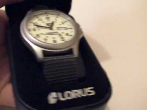 Seiko Lorus Mens Casual Watch lumibrite watch RXF41AX7