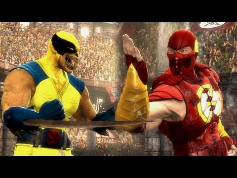 Mortal Kombat 9 - Wolverine VS The Flash [1080p] PC Mods TRUE-HD QUALITY