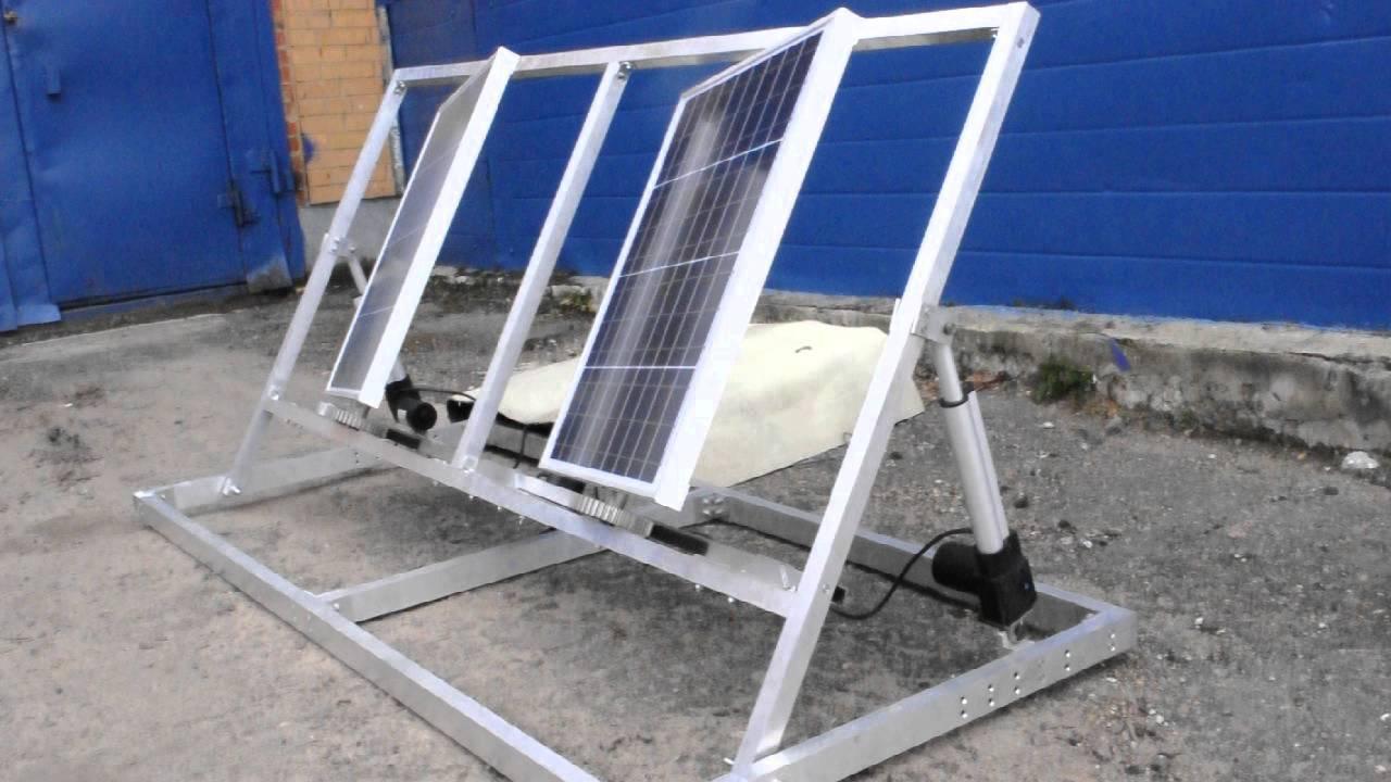 Трекер солнечных панелей своими руками