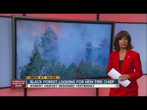 Black Forest Fire Chief Bob Harvey resigns