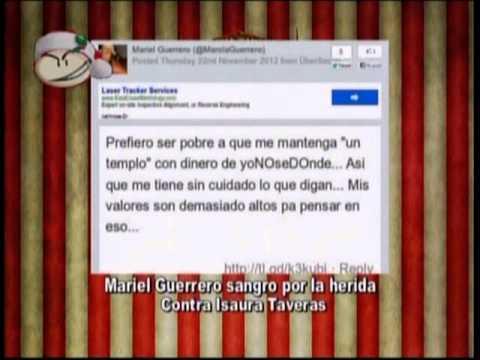 MARIEL GUERRERO SANGRO POR LA HERIDA CONTRA ISAURA TAVERAS