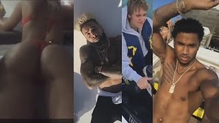 Trey Songz Parties on a Yacht with Justin Bieber Odell Beckham Jr and some Fine Women