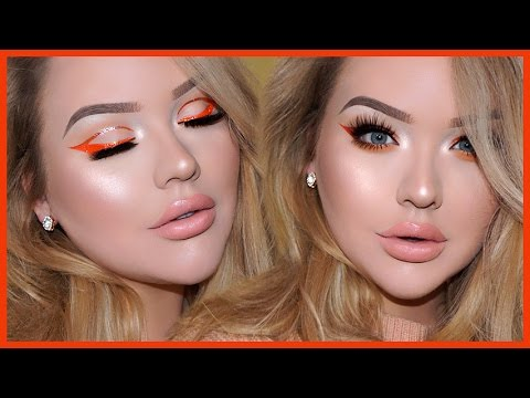 GLITTER CUT-CREASE LINER & Glowy Spring Makeup Tutorial