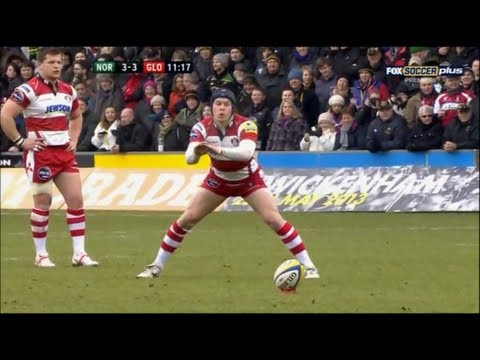 Rob Cook bizarre kicking style | Rugby Video Highlights