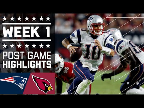 Patriots Vs Cardinals Nfl Week 1 Game Highlights