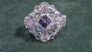 Beading4perfectionists : Beaded Victorian Swarovski / Miyuki ring tutorial