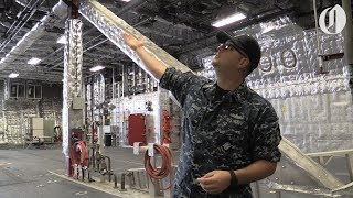 Grand tour of the USS Jackson navy combat ship