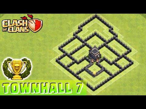 Clash of Clans - DEFENSE STRATEGY - Townhall Level 7 Base Layout (CoC TH7 Defensive Strategy)