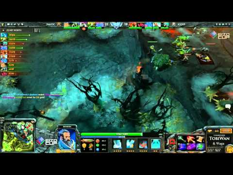 Fnatic EU vs iCCup Game 1 Part 2   EIZO Cup DOTA 2   TobiWan & Wagamama
