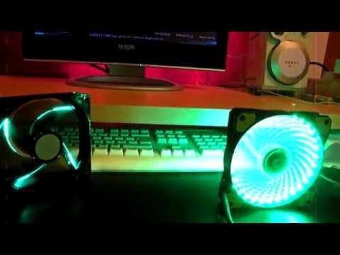 Review Coolermaster Sickleflow vs Galeforce Game Max 12cm - 120mm Green LED Case / System Fan