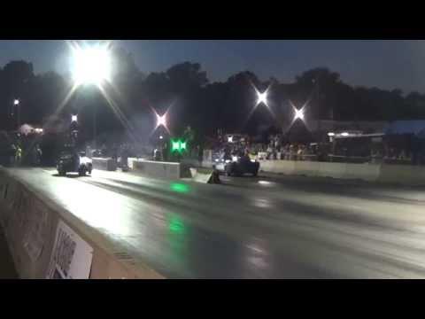 John Fisher Twin Turbo camaro Outlaw Big Tire record run 4.33 YB 2014