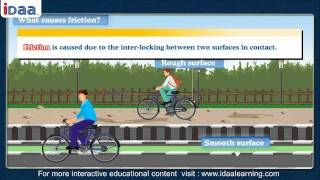 What is FRICTION – physics –science- iDaalearning