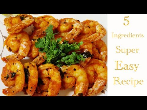 How to cook Spicy Prawn Fry in 10mins|Recipe For Beginners|