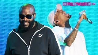 Rick Ross & Chris Brown Sound Check For Jimmy Kimmel Live! Performance With Lira Galore 12.7.15