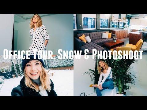 OFFICE TOUR, SNOW & PHOTOSHOOT