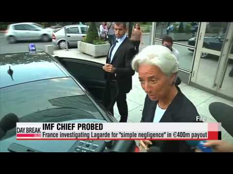 IMF chief Lagarde being probed by French magistrate   라가르드 IMF 총재 기소 위기
