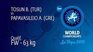 Qual. FW - 63 kg: B. TOSUN (TUR) df. A. PAPAVASILEIO (GRE), 12-8