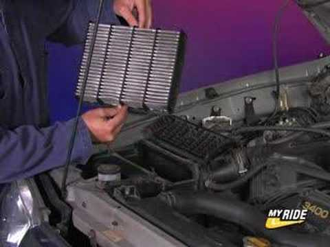 How to change your air filter youtube for Interieur filter