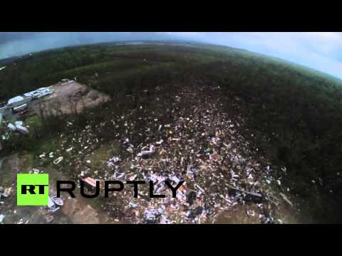Mayflower Arkansas tornado drone footage shows scale of devastation