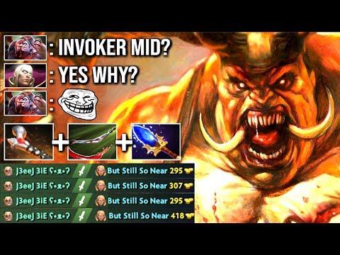 EPIC ATOS + HOOK COMBO Pudge Counter Invoker Mid EZ Crazy Gameplay by J3eeJ WTF Dota 2