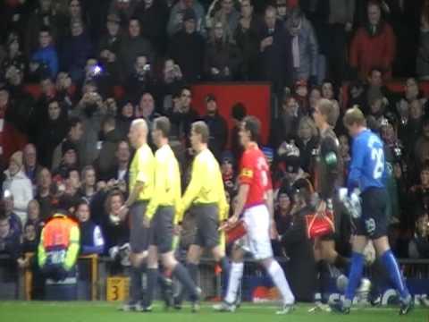 Manchester United Vs  Ab Alborg 10 12 2008 Uefa Champions League Anthem Live !!! video