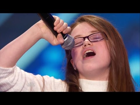America's Got Talent S09E05 Mara Justine 11 Year Old Superstar Singer klip izle