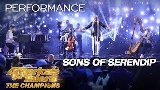 Sons Of Serendip Quartet Stuns With 34 Somewhere Only We Know 34 America 39 S Got Talent The Champions