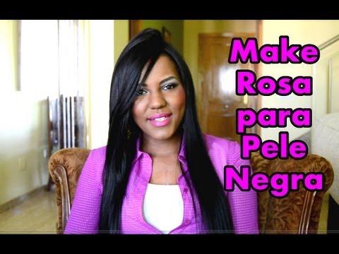 Maquiagem Rosa Pele Negra + Contorno Kim Kardashian