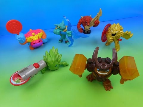 2015 SKYLANDERS TRAP TEAM SET OF 6 McDONALD'S HAPPY MEAL KID'S TOY'S VIDEO REVIEW