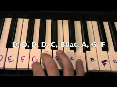 How to... Play Deck The Halls on the piano. EASY!!! - YouTube