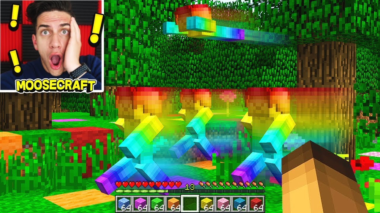 RAINBOW STEVE TAKES OVER MINECRAFT! (VERY SCARY)
