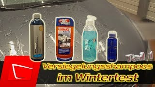 Autoshampoos mit Versiegelung im Wintertest - Sonax WashProtect Gyeon Bathe+ Koch Nano Magic