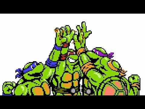 Черепашки-ниндзя в пикселях (GAME)