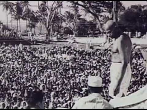 Mahatma Gandhi - Pilgrim of Peace documentary  Part1