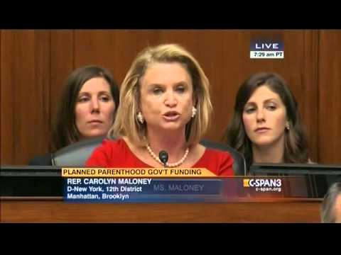 Congresswoman Maloney's opening statement at Oversight Committee hearing on Planned Parenthood