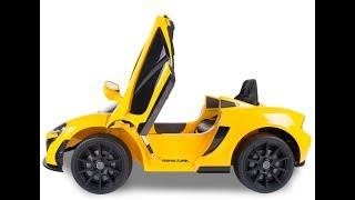mykidsvn.com - Giới thiệu siêu xe điện trẻ em cao cấp Mclaren 672R màu vàng