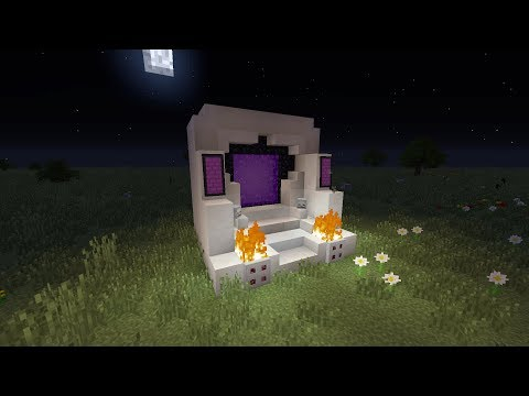 Minecraft | How to make a nether portal design [Tutorial]