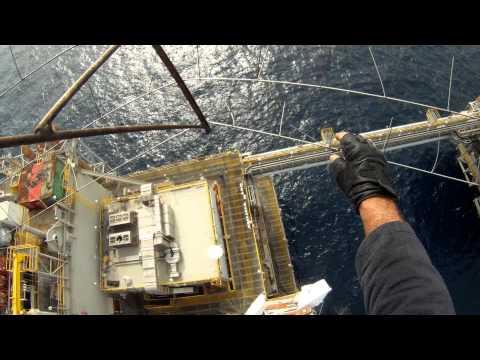 Lightning Protection System Inspection on Platform Nigeria.MP4