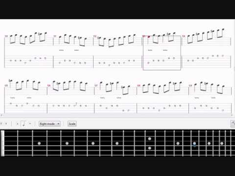 canon rock tab guitar lesson