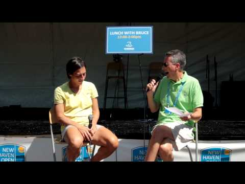 """Francesca Schiavone at The New Haven Open -- interview on """"Lunch With Bruce"""""""