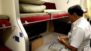 วิธีปูที่นอนรถไฟตู้นอนชั้น 2 รุ่นใหม่