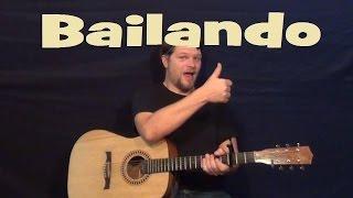 Bailando (Enrique Iglesias) Easy Guitar Lesson How to Play Tutorial TAB