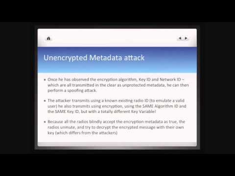 APCO P25 Security Revisited - The Practical Attacks! - Matt Robert