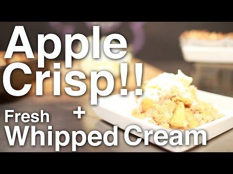 How to Cook: Apple Crisp + Fresh Whipped Cream!! + Raava Giveaway Winner!!