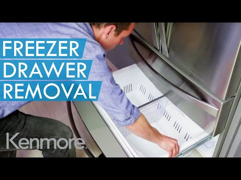 How To Remove The Bottom Freezer Drawer Youtube