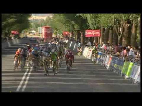 Slotfase rit16 Vuelta 2009 val Wouter Weylandt