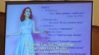 """Lâm Minh Ngọc   Tốt nghiệp Cao học Thanh nhạc 2017   F Schubert Romance """"Aufenthalt"""""""