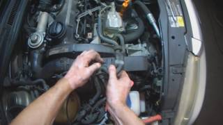 VW A4: ALH TDI (w/AC) Alternator removal (better lighting)