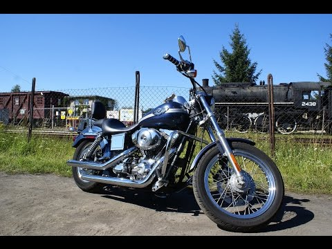 Harley-Davidson Dyna Low Rider FXDL 2003 with Cobra Dragster Exhaust Pipes Sound