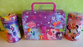 Disney Minnie Mouse & Hasbro Little Pony School Lunch Bag + Box Surprise European Collection